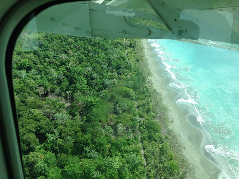 Flying into Puerto Jimenez